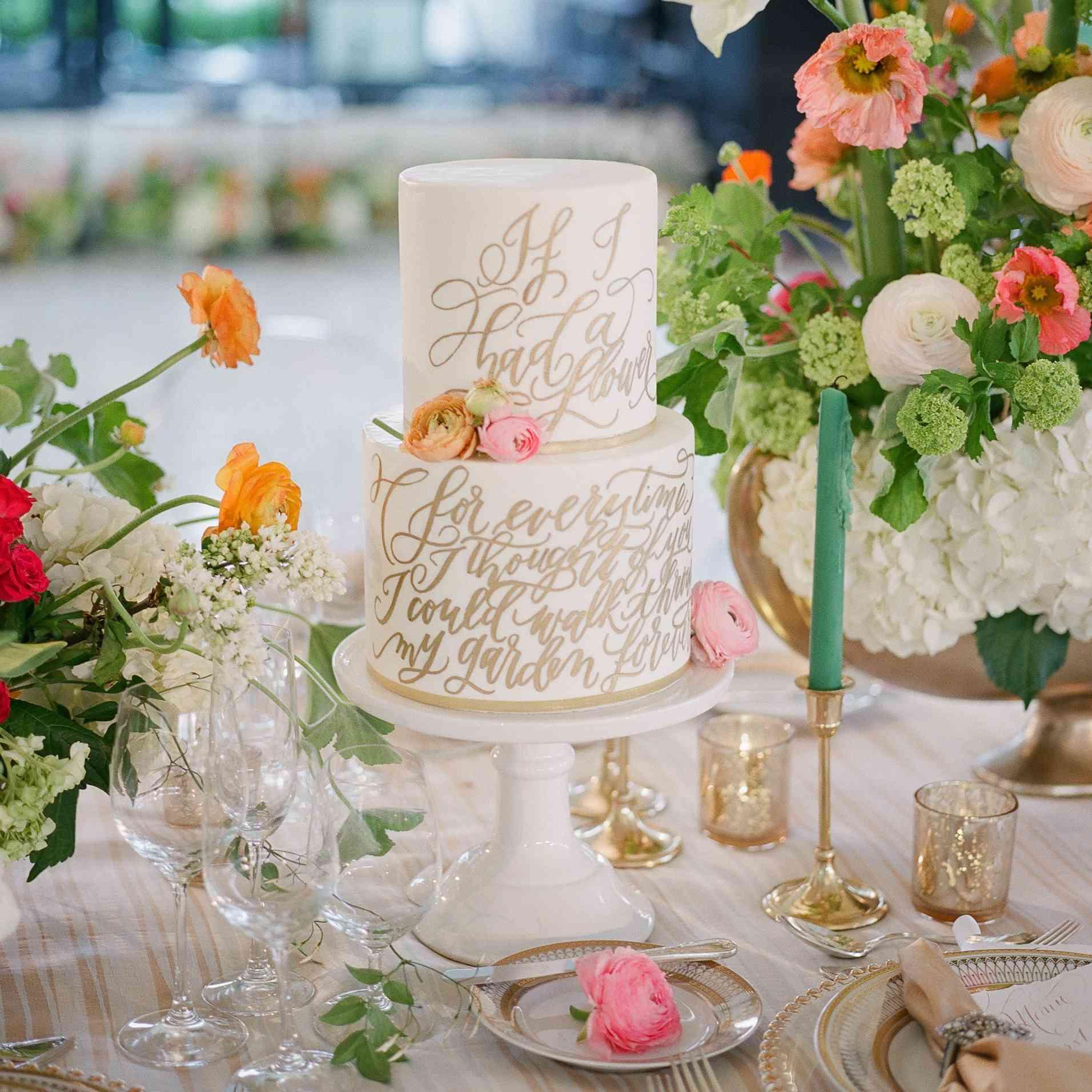 Quote Wedding Cake