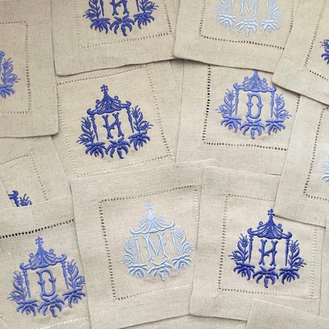 monogrammed napkins