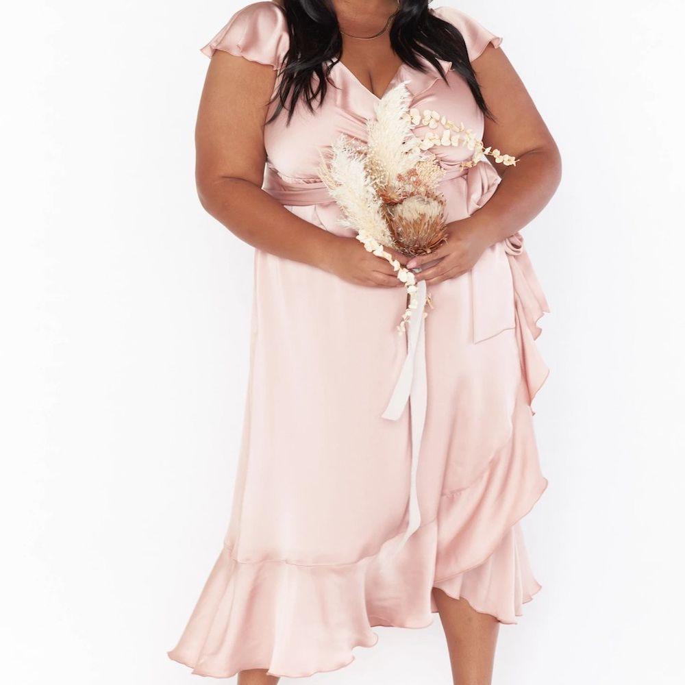 Show Me Your Mumu Samantha Ruffle Wrap Dress