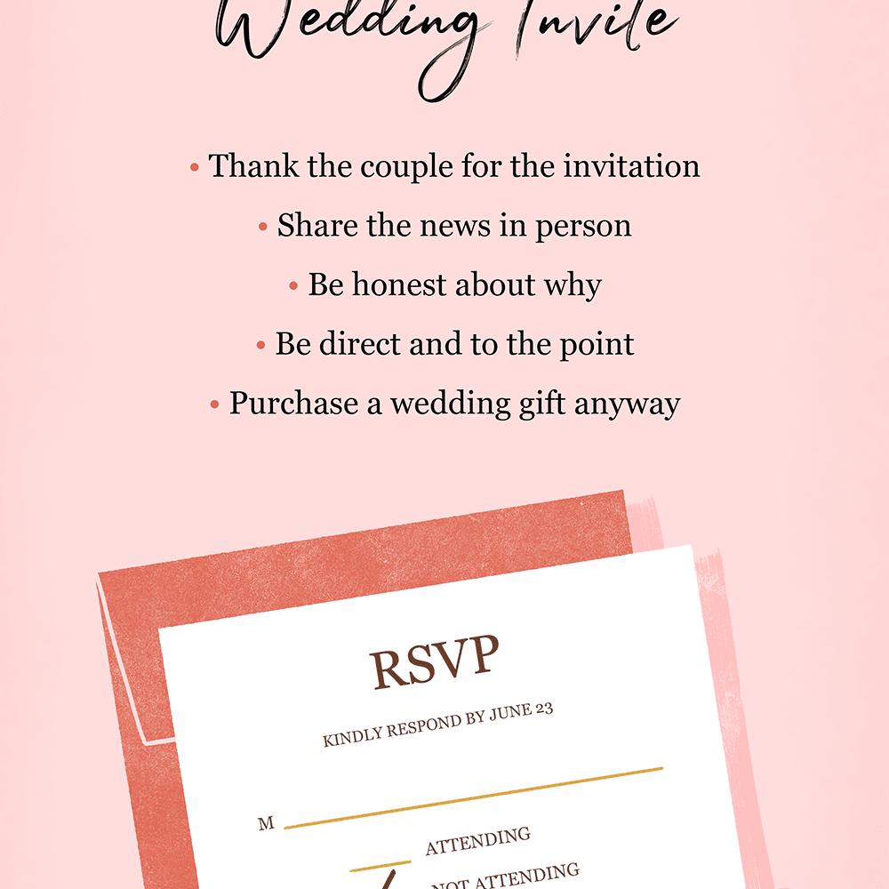 How to Decline a Wedding Invite