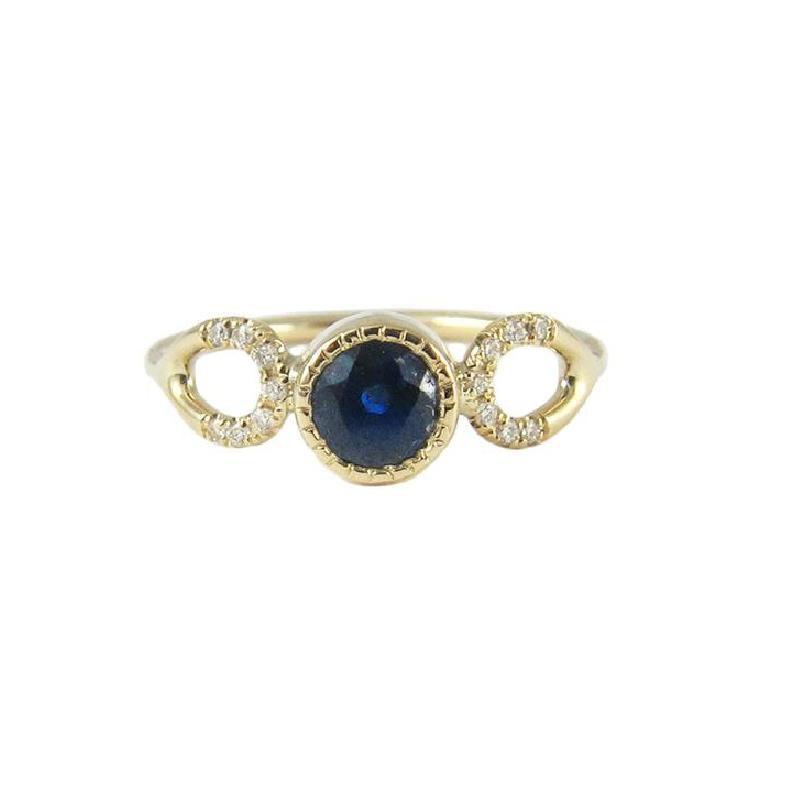 Jennie Kwon Sapphire Loop Ring
