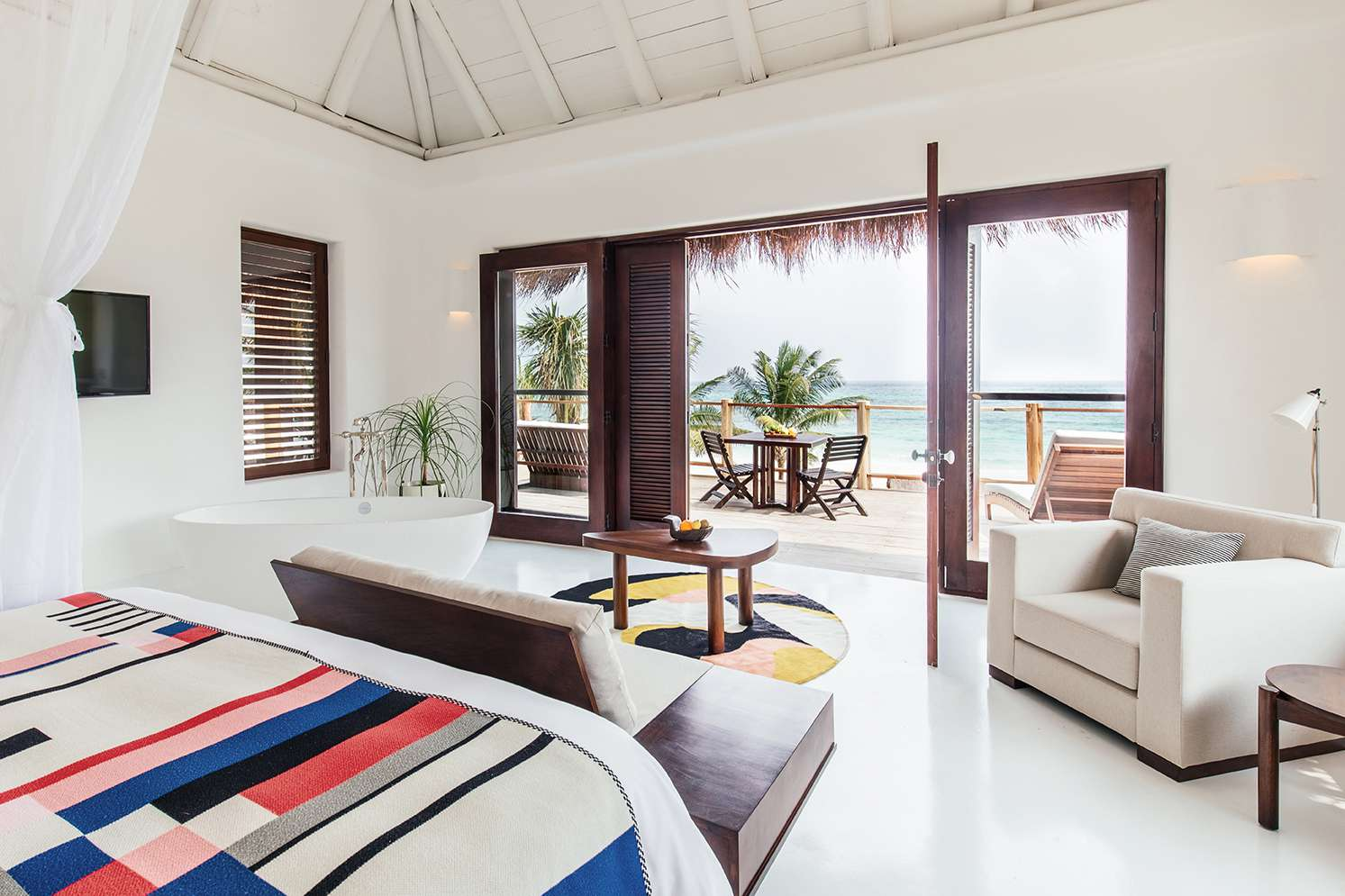 The new beach suites at Hotel Esencia, on Riviera Maya, Mexico.