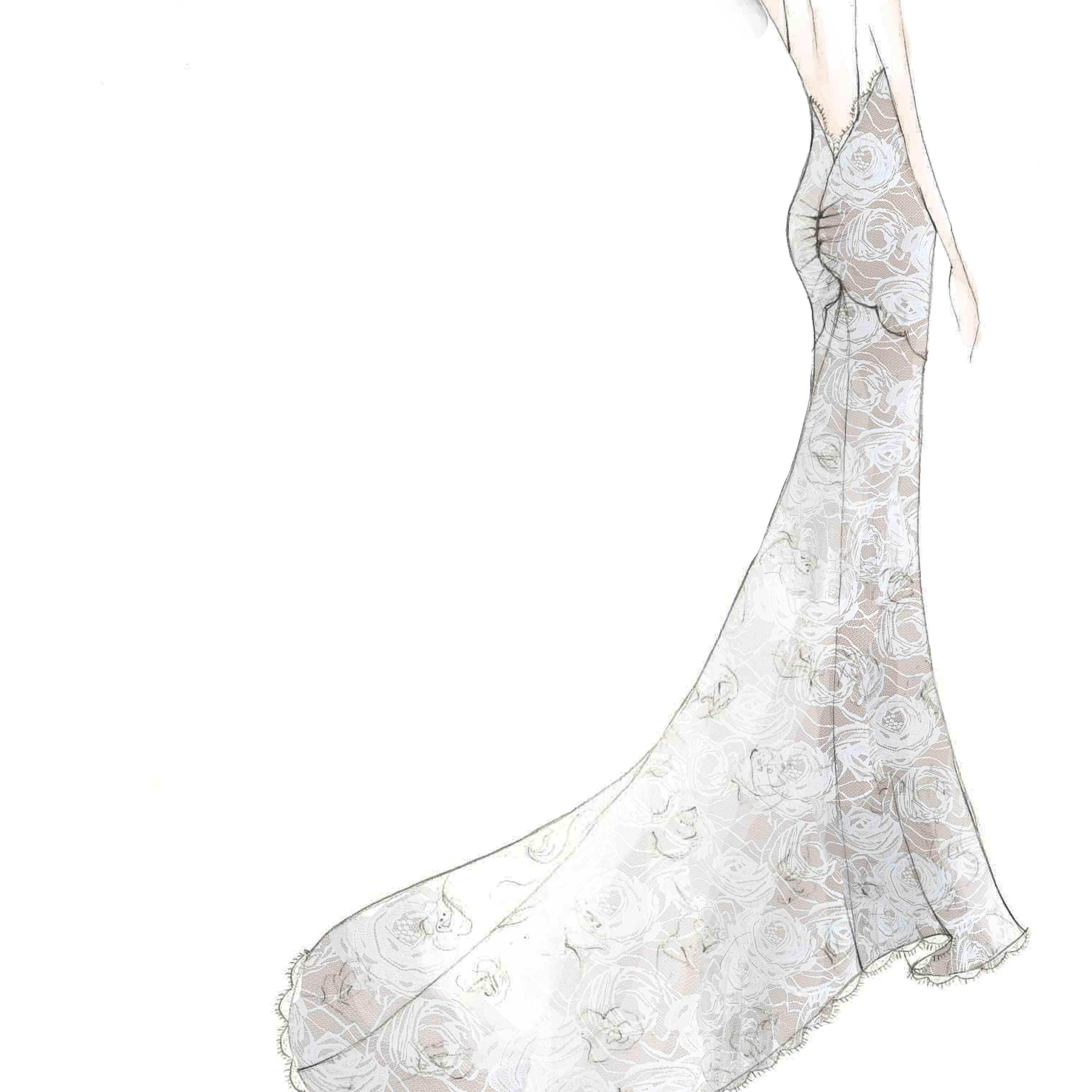 Grace Loves Lace Bridal Fashion Week Fall 2020 Sketch