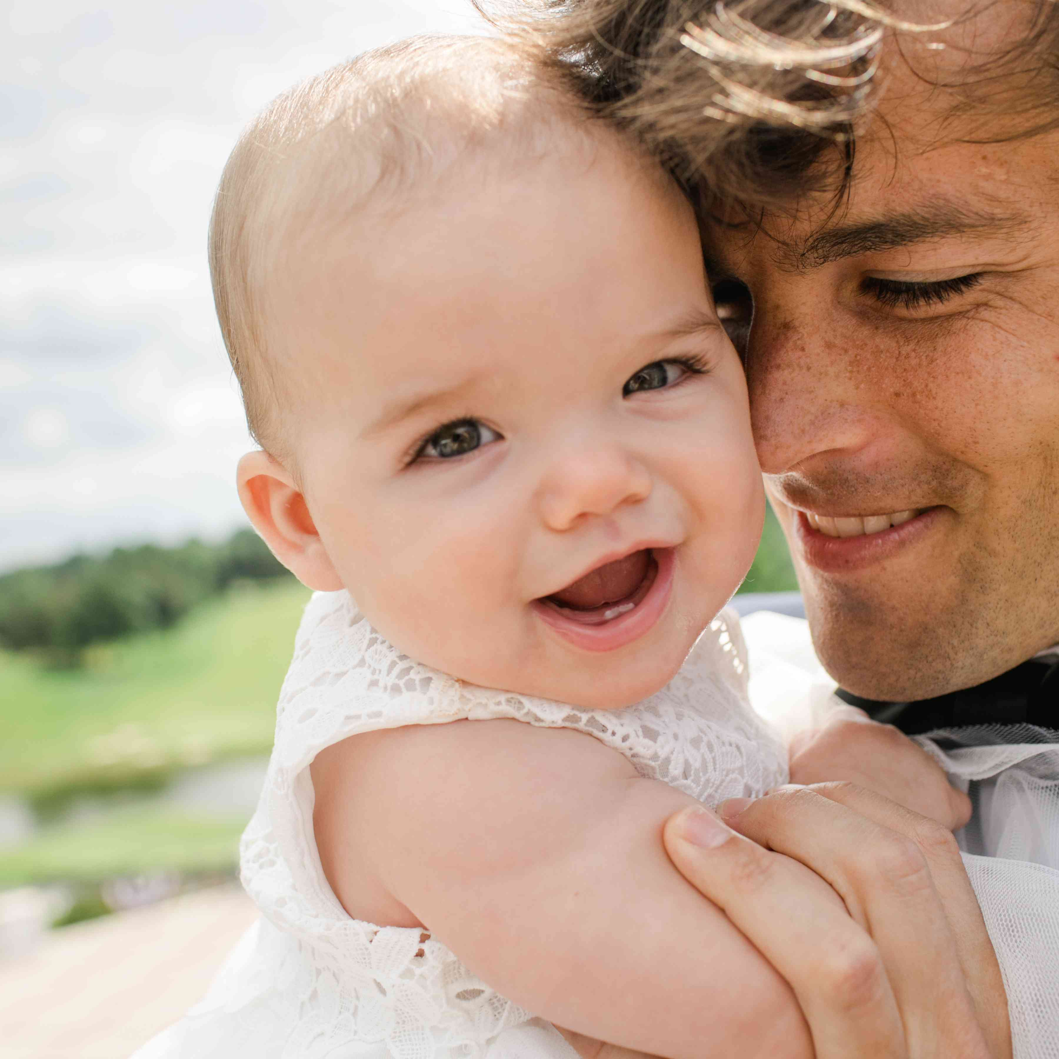Groom with baby