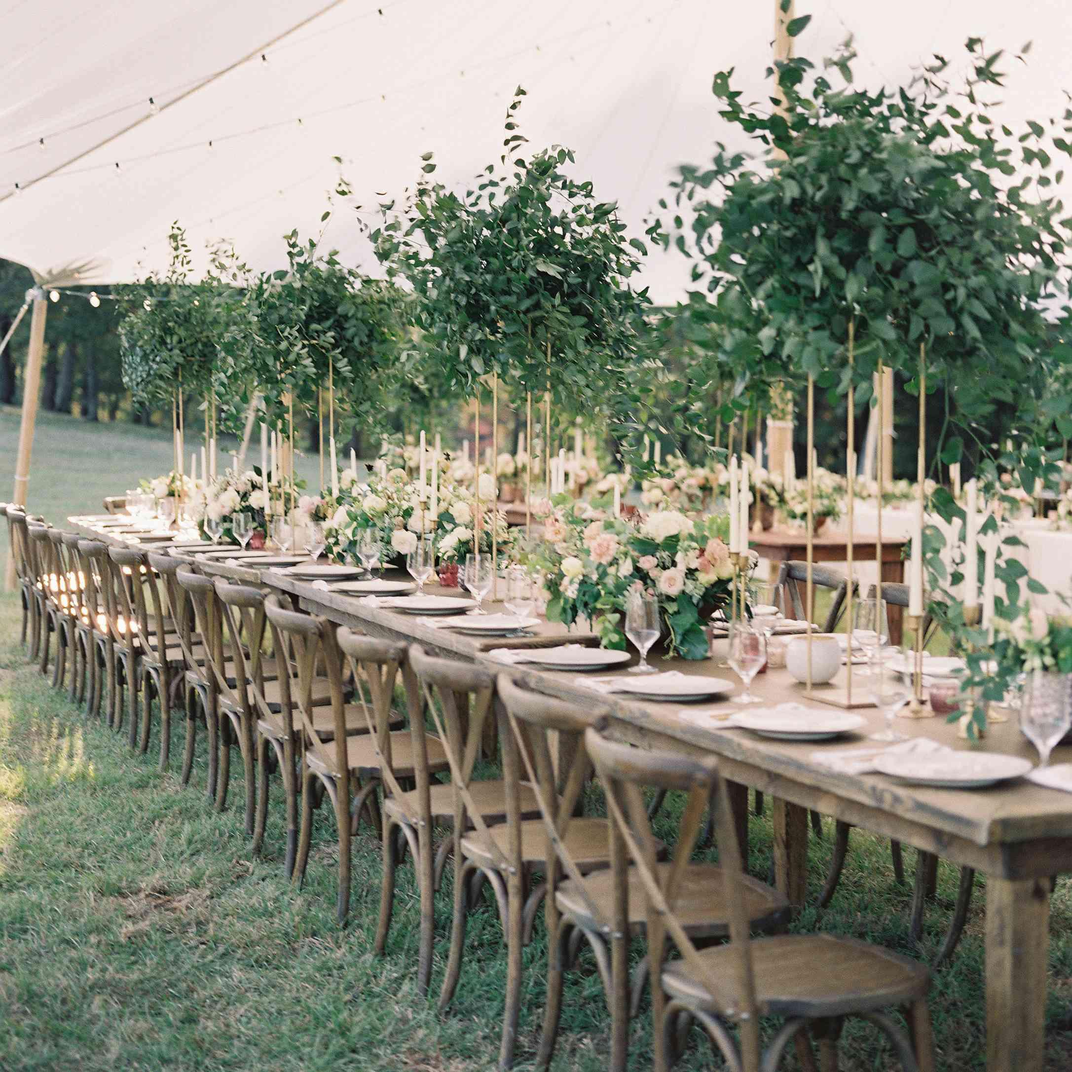 <p>Wedding reception tablescape</p><br><br>