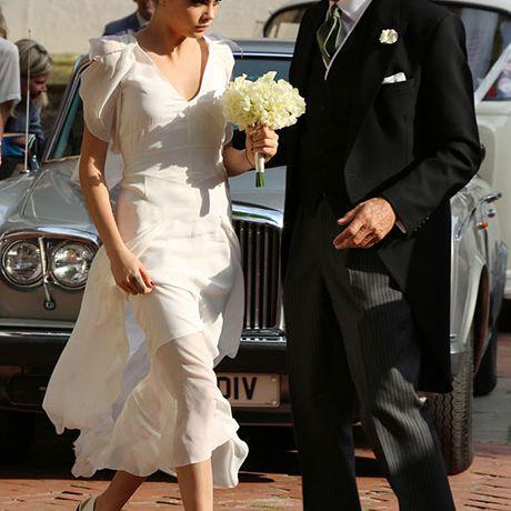 Cara Delevingne as a bridesmaid