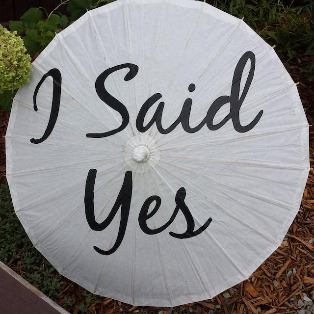 Parasol Custom Text Sign Umbrella