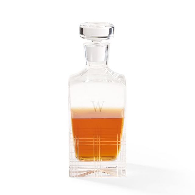 Etched Windowpane Decanter