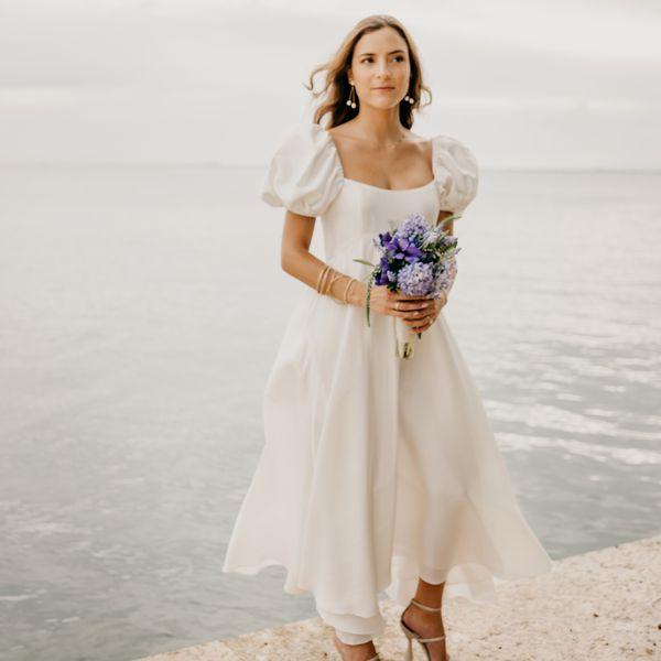 cottagecore wedding dress bride