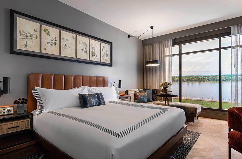 Guest room at Thompson Savannah Hotel