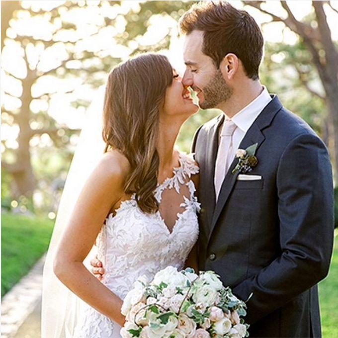Bachelorette Desiree Hartsock marries Chris Siegfried in Maggie Sottero, 2015