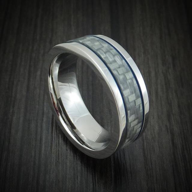 cobalt wedding band