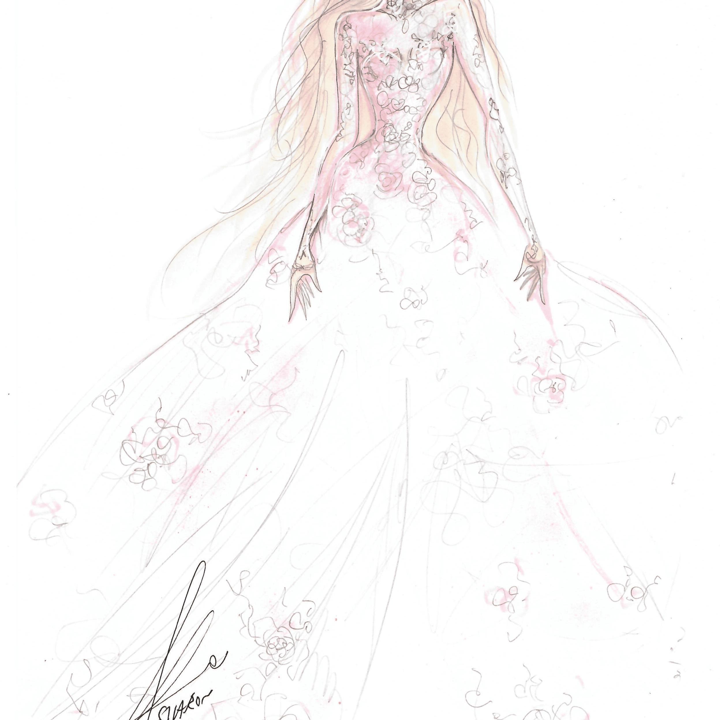 Galia Lahav Bridal Fashion Week Fall 2020 Sketch