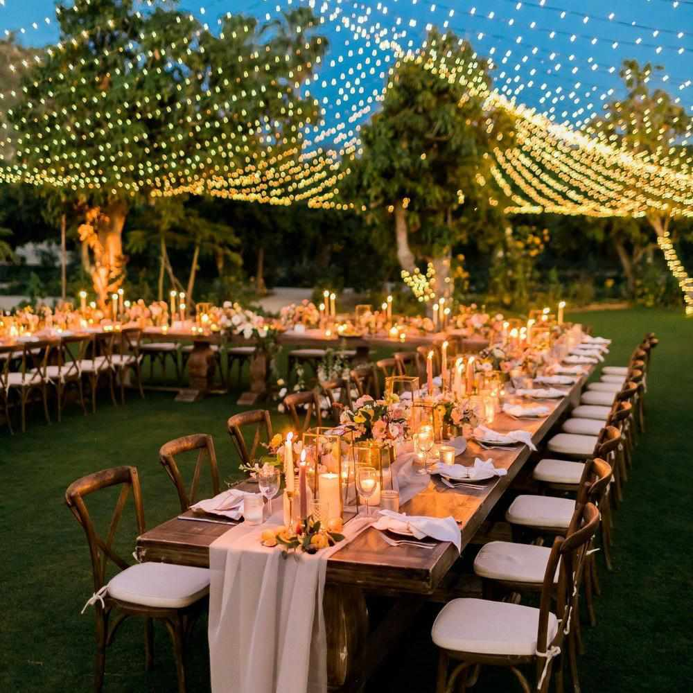 15 Gorgeous Ideas for Using String Lights Throughout Your ... on lighting for centerpieces, lighting for outdoor halloween party, lighting for deck ideas, lighting for weddings ideas,