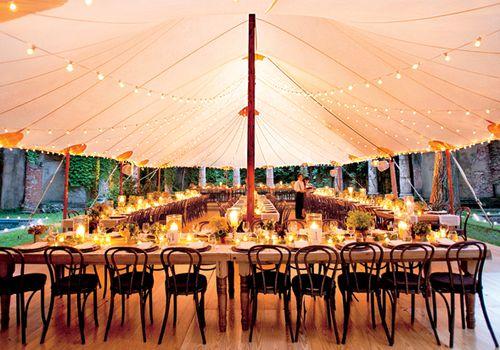tented wedding reception