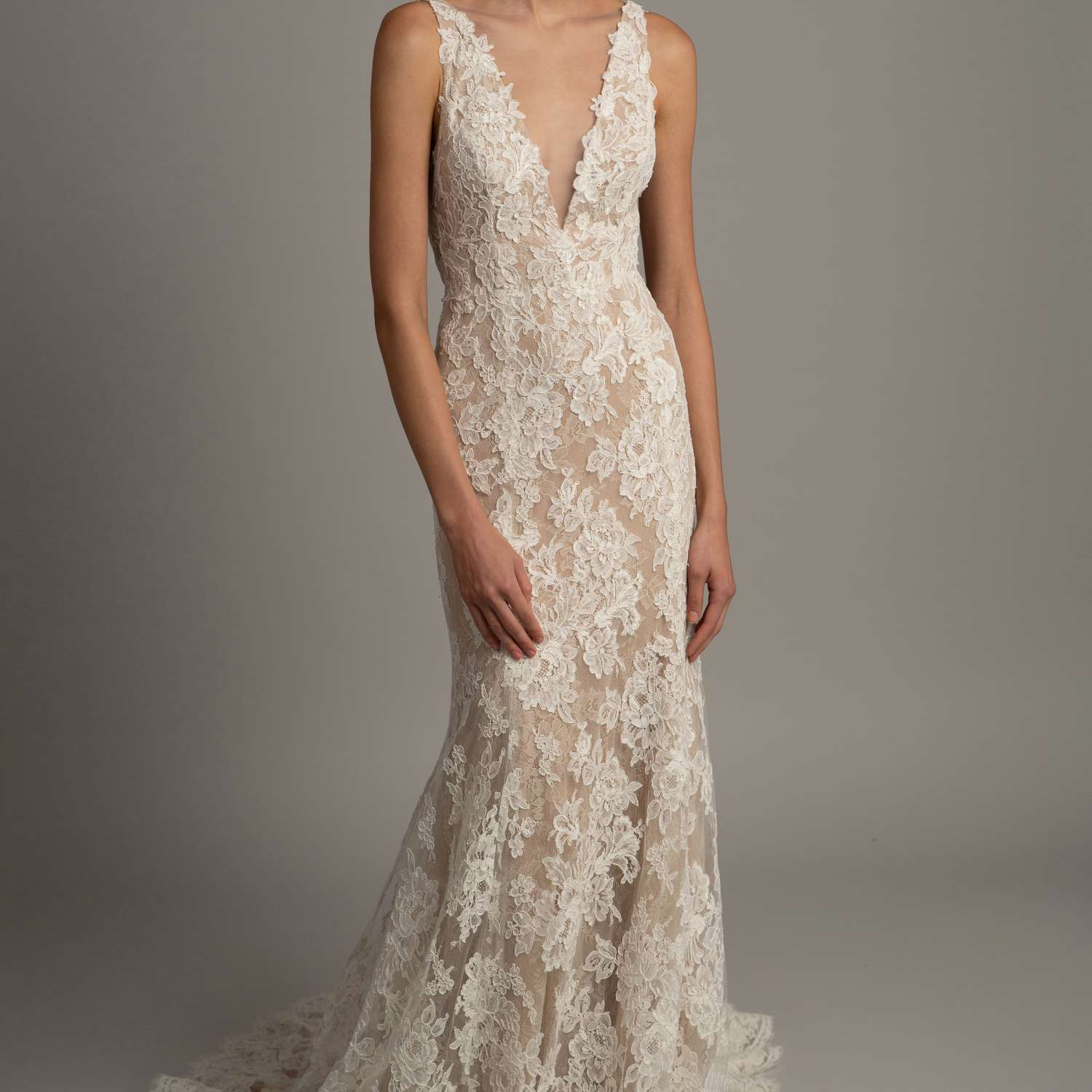 allover lace gown