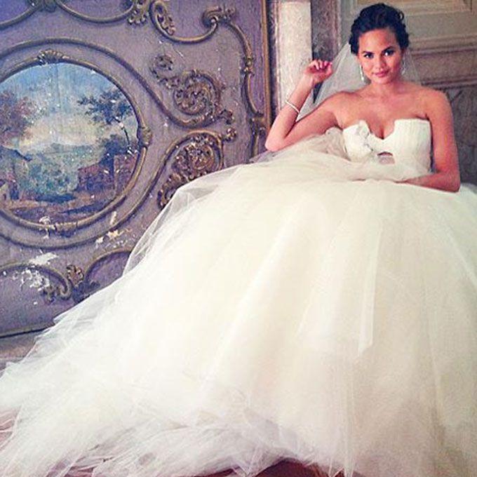 Chrissy Teigen marries John Legend in Vera Wang, 2013