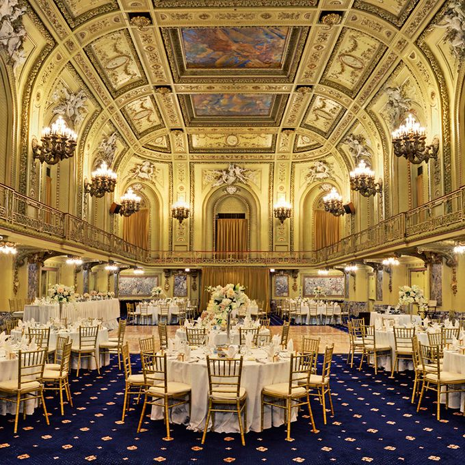 The Congress Plaza Hotel boasts 23 contemporary event spaces for whatever type of wedding your hearts desire. Should you choose the Gold Room (pictured) you might spot a ghostly hand reaching out from the coat closet — that belongs to the spirit of a worker who was trapped behind a wall and suffocated to death when it was plastered shut. In the Florentine Room, wedding guests have heard female whispers in their ear and security guards have reported mysterious knocks and shifting of chairs. The hotel was also home to Al Capone, who had a suite on the eighth floor. He, along with the spirits of a mischievous young boy and the goofy hobo Peg Leg Johnny, still haunt the halls today. But the most terrifying spot is room 441. Guests who've ventured to sleep there have reported being kicked awake and seeing a female shadow at the foot of the bed