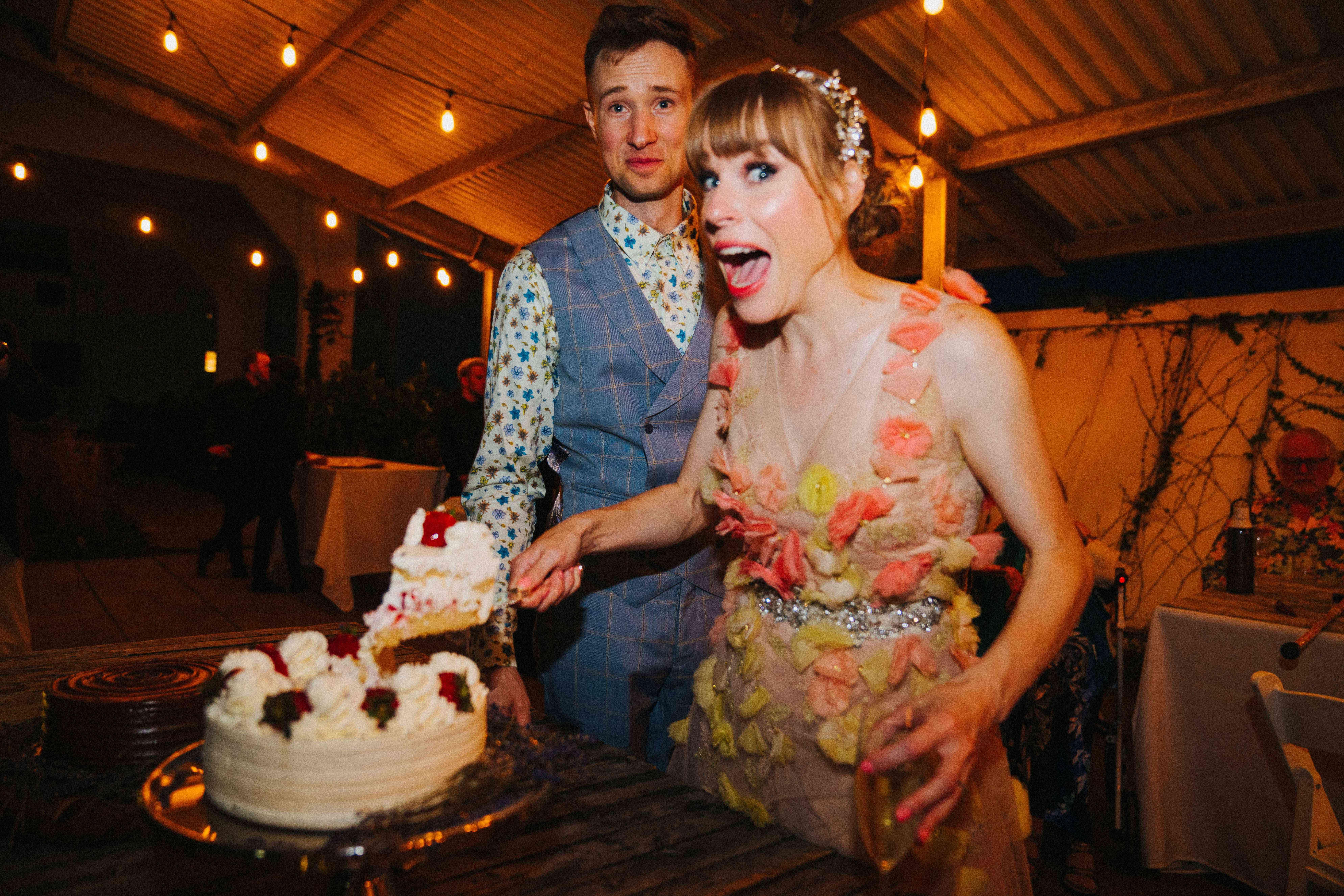 emma myles wedding cake cutting