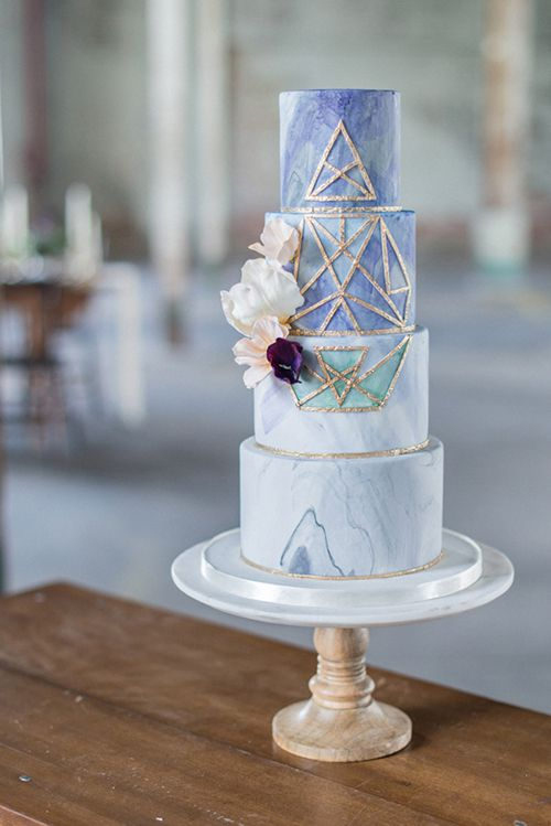 These Geometric Wedding Cakes Will Totally Amaze Your Guests