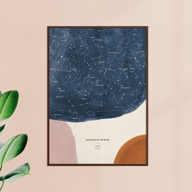 Made of Sundays Custom Star Chart Shapes Night Sky Print