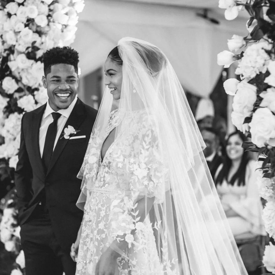 Chanel Iman and Sterling Shepard wedding ceremony