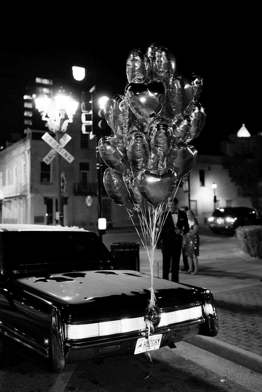 augusta wedding, car exit