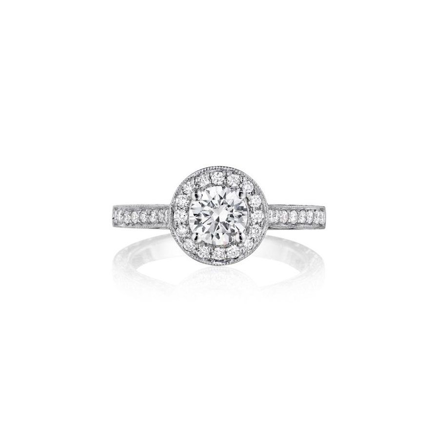 Penny Preville Round Diamond Engagement Ring