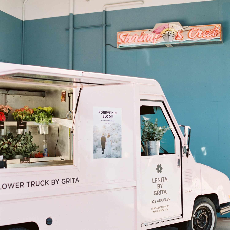 A flower truck