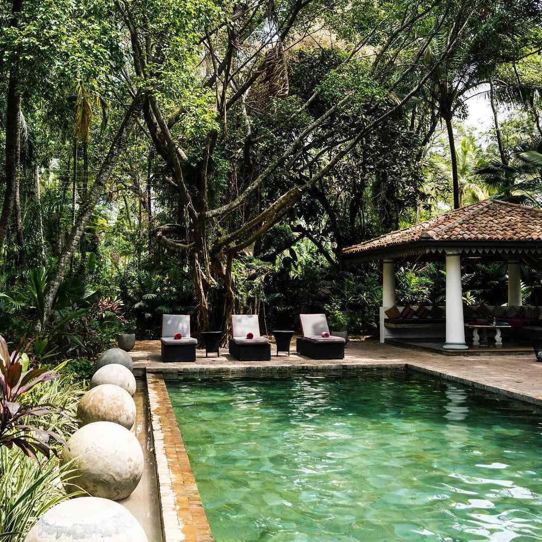 The pool at the Wallawwa, a resort in Sri Lanka