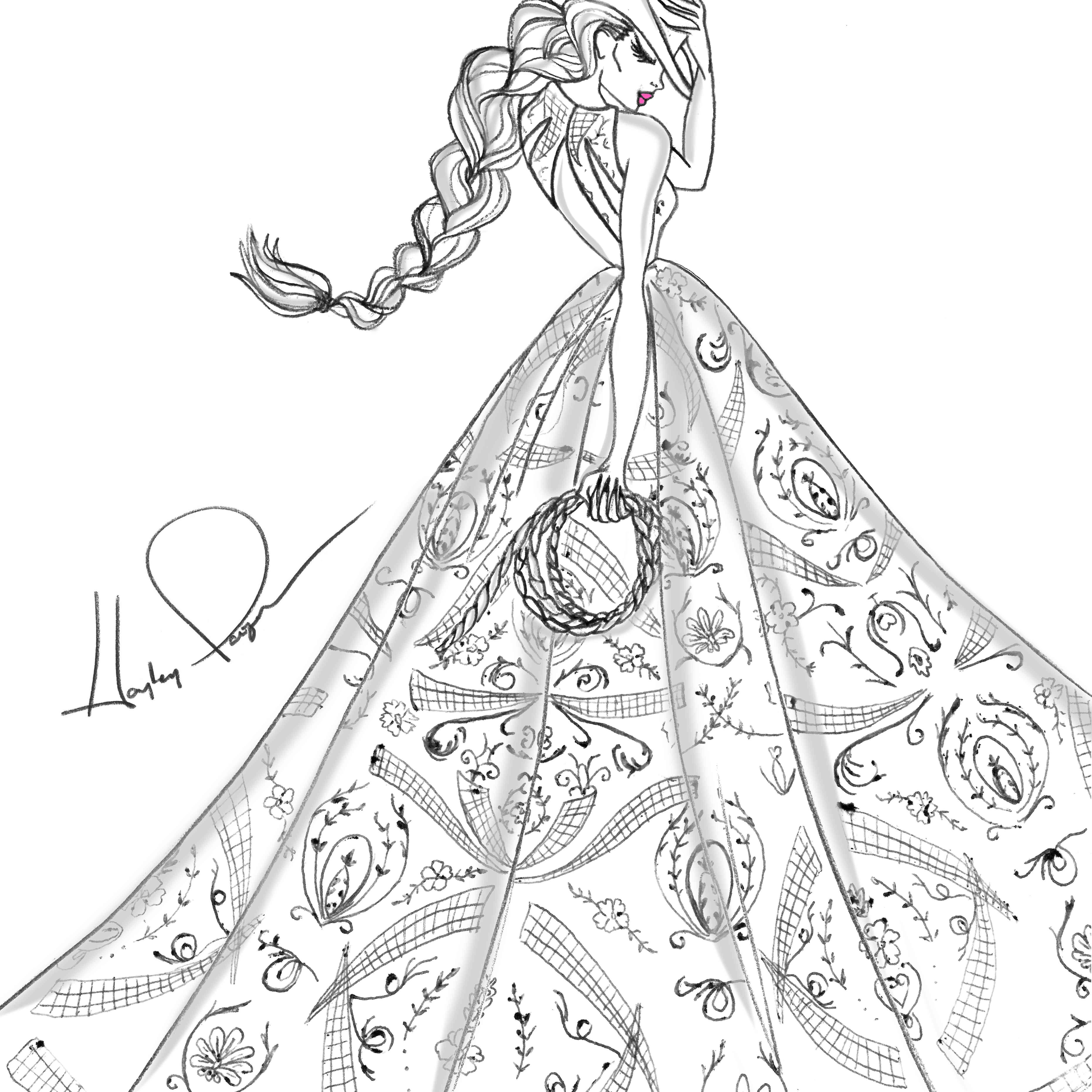 Hayley Paige Bridal Fashion Week Fall 2020 Sketch