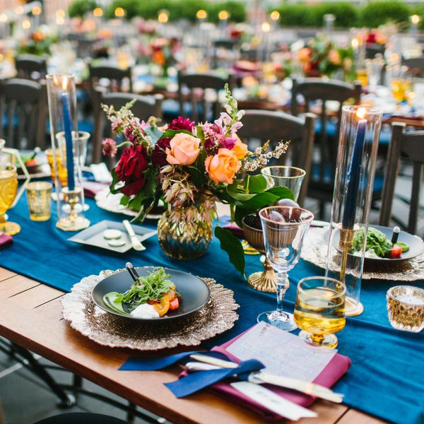 Wedding Reception Ideas For Fall: 23 Beautiful Banquet-Style Tables For Your Wedding Reception