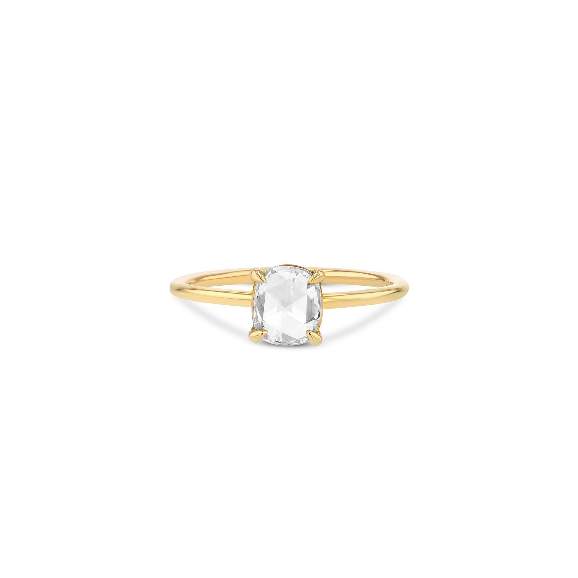 Grace Lee Oval Rose-Cut Diamond Solitaire Ring