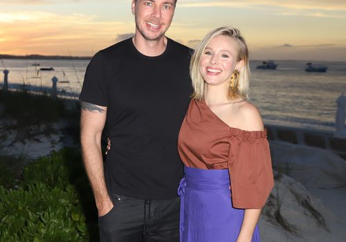 <p>Dax Shepard and Kristen Bell on vacation.</p>