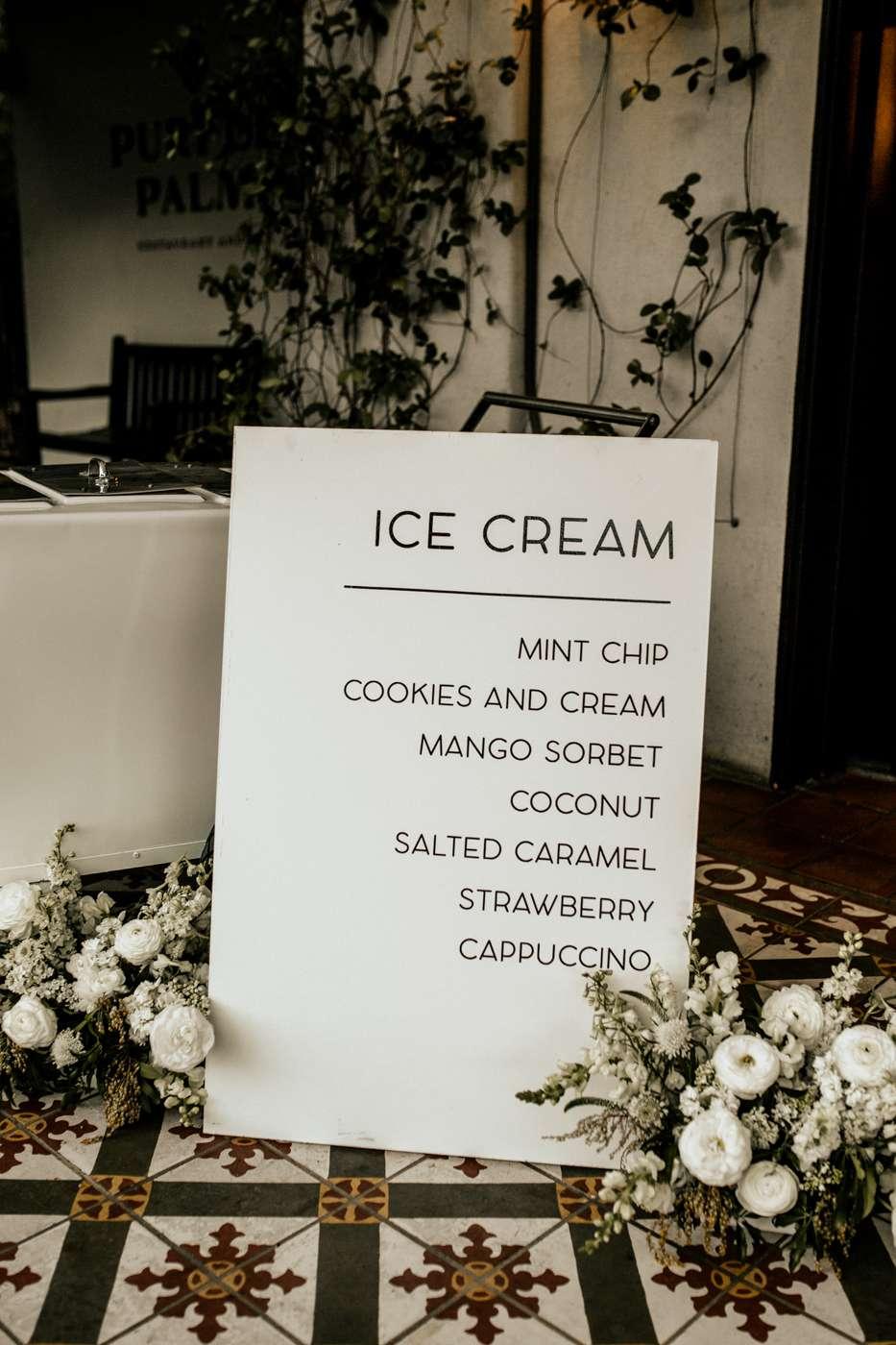 wedding ice cream sign