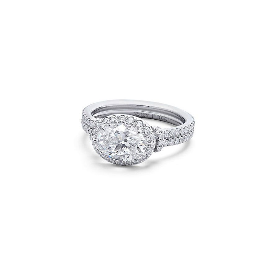 David Yurman Oval-Cut Diamond Engagement Ring