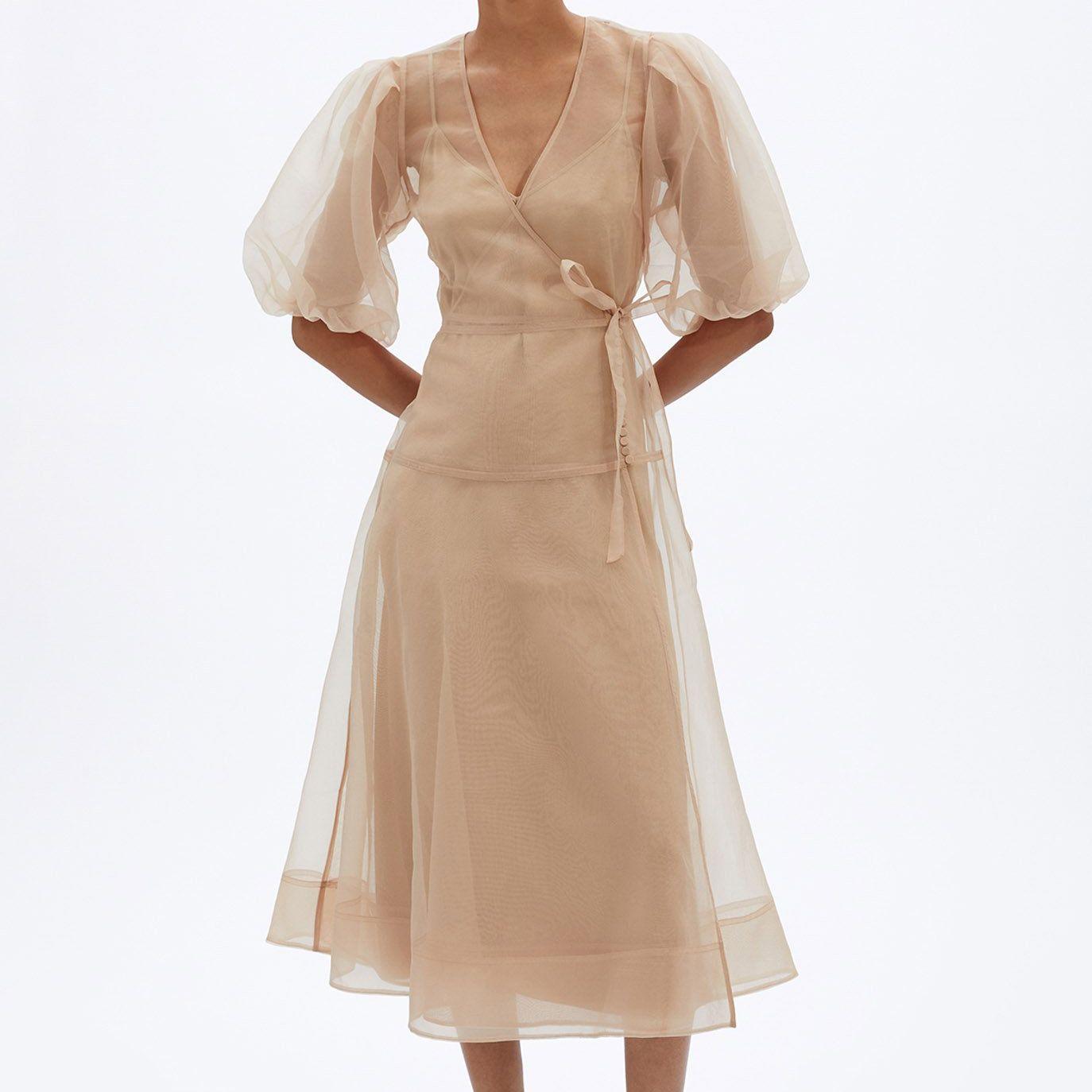 Jonathan Simkhai Lorelai Eco-Organza Midi Dress