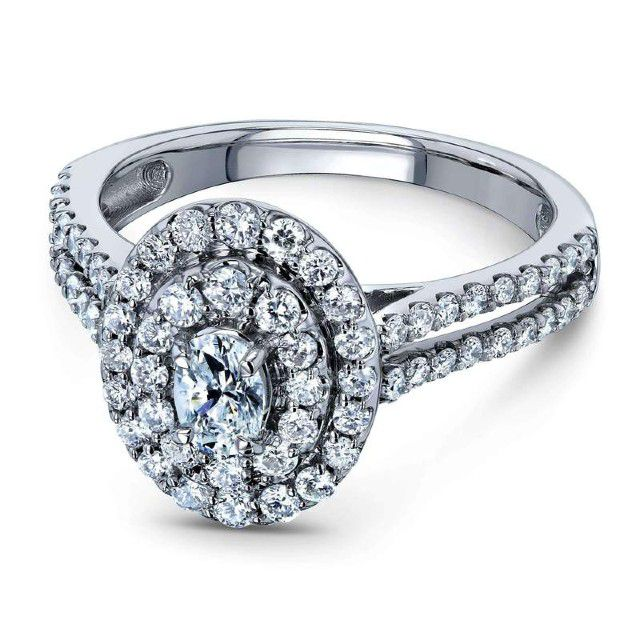 cluster oval ring