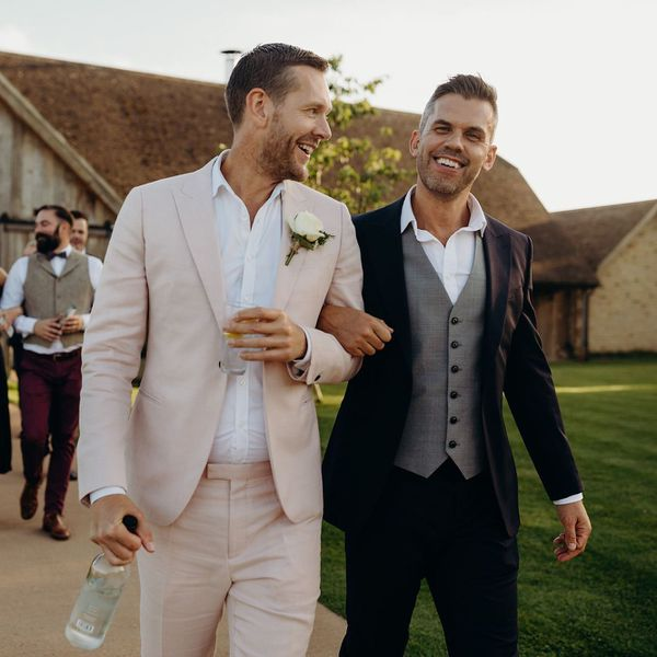 two happy grooms