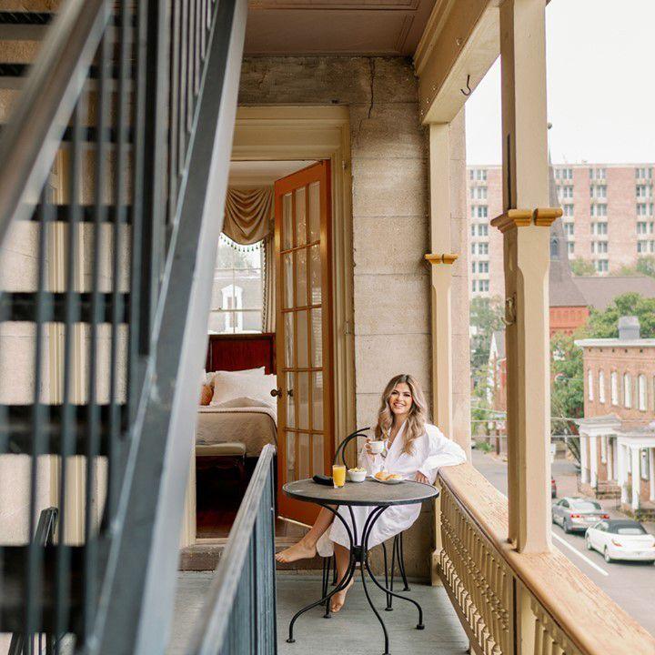 Private Balcony at Gastonian inn in Savannah