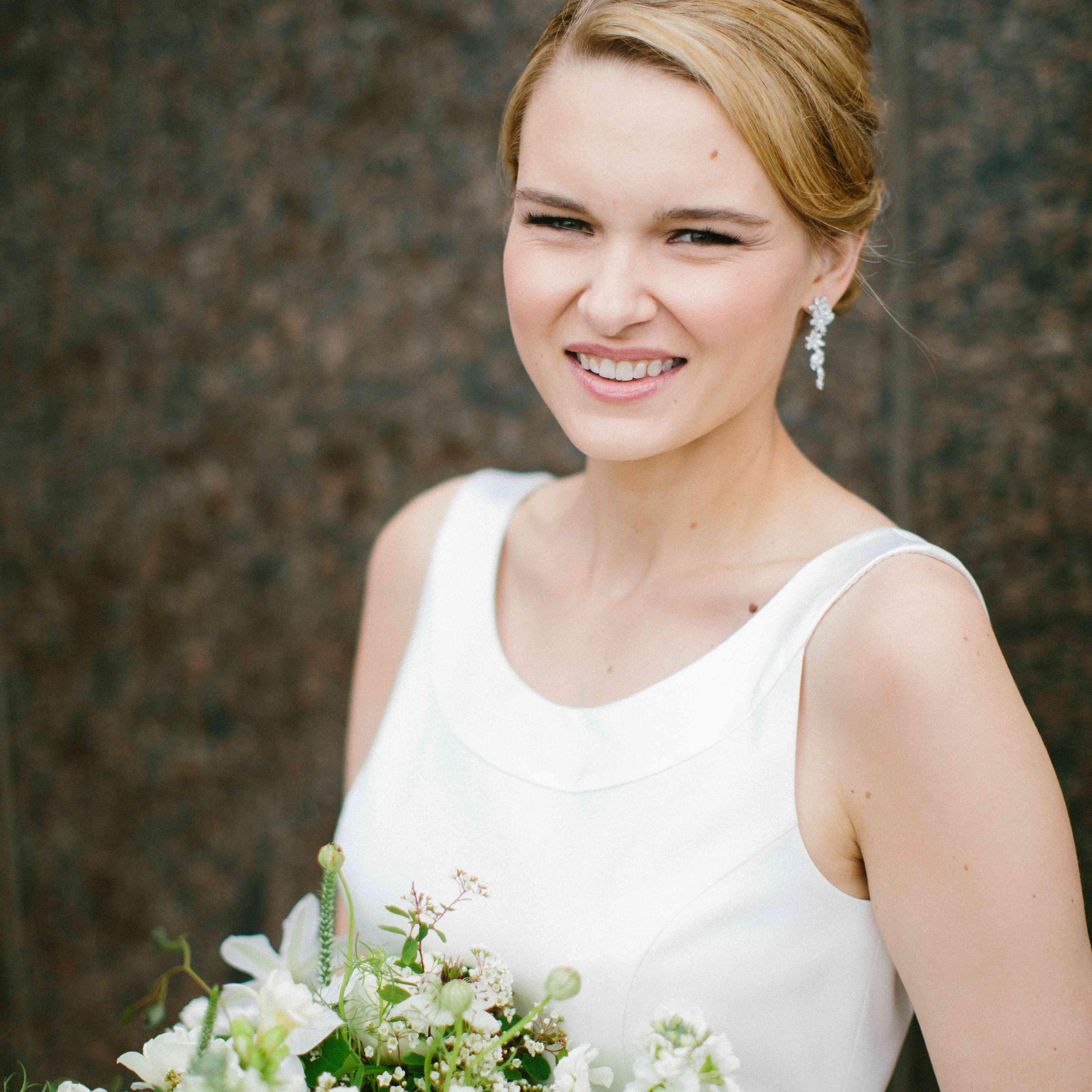 Bride with Chignon Updo