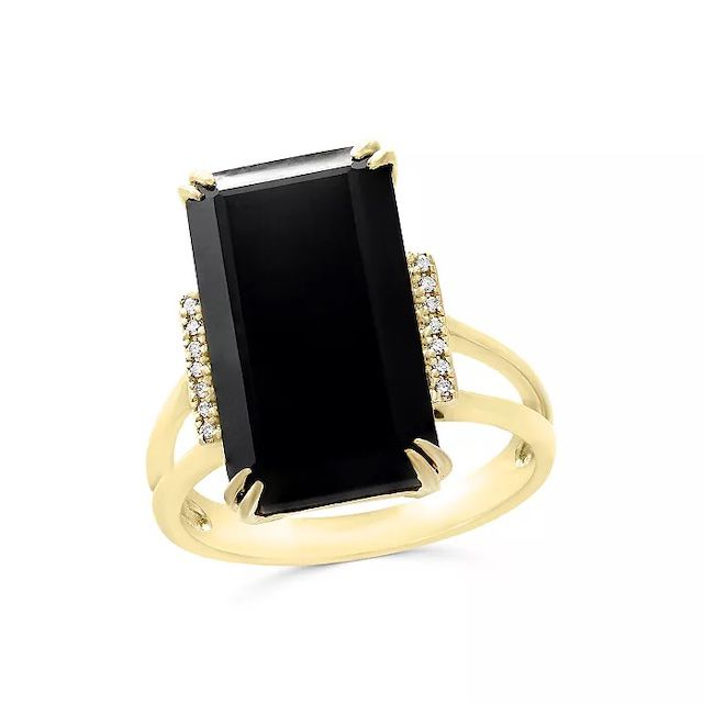 Bloomingdale's Black Onyx and Diamond Statement Ring