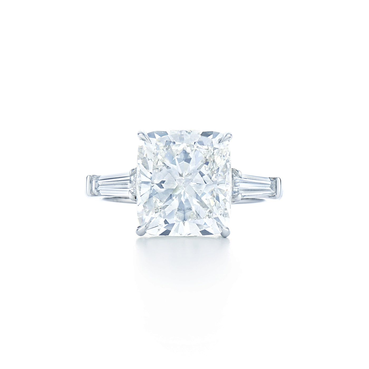 Kwiat Engagement Ring with a Cushion Diamond and Side Stones
