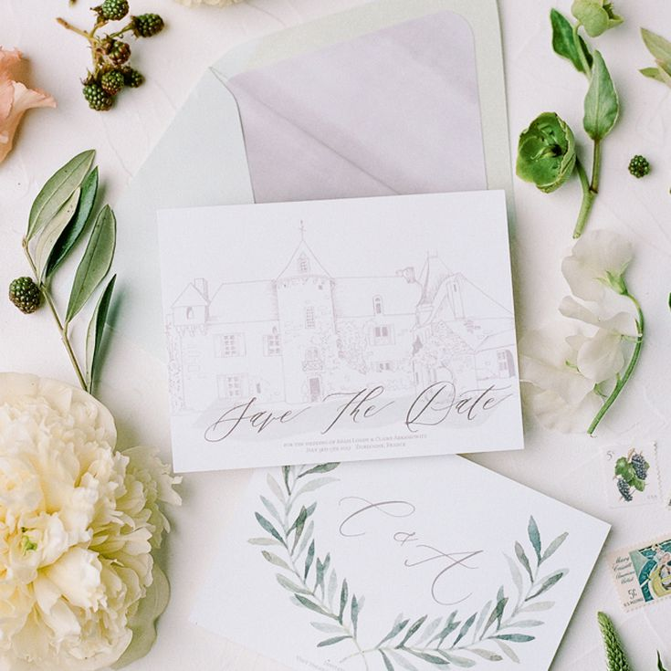 Calligraphy Save the Date PDF Postcard Save the Date Note Cards Printable Save the Date Printed Save the Dates Save the Date Magnet