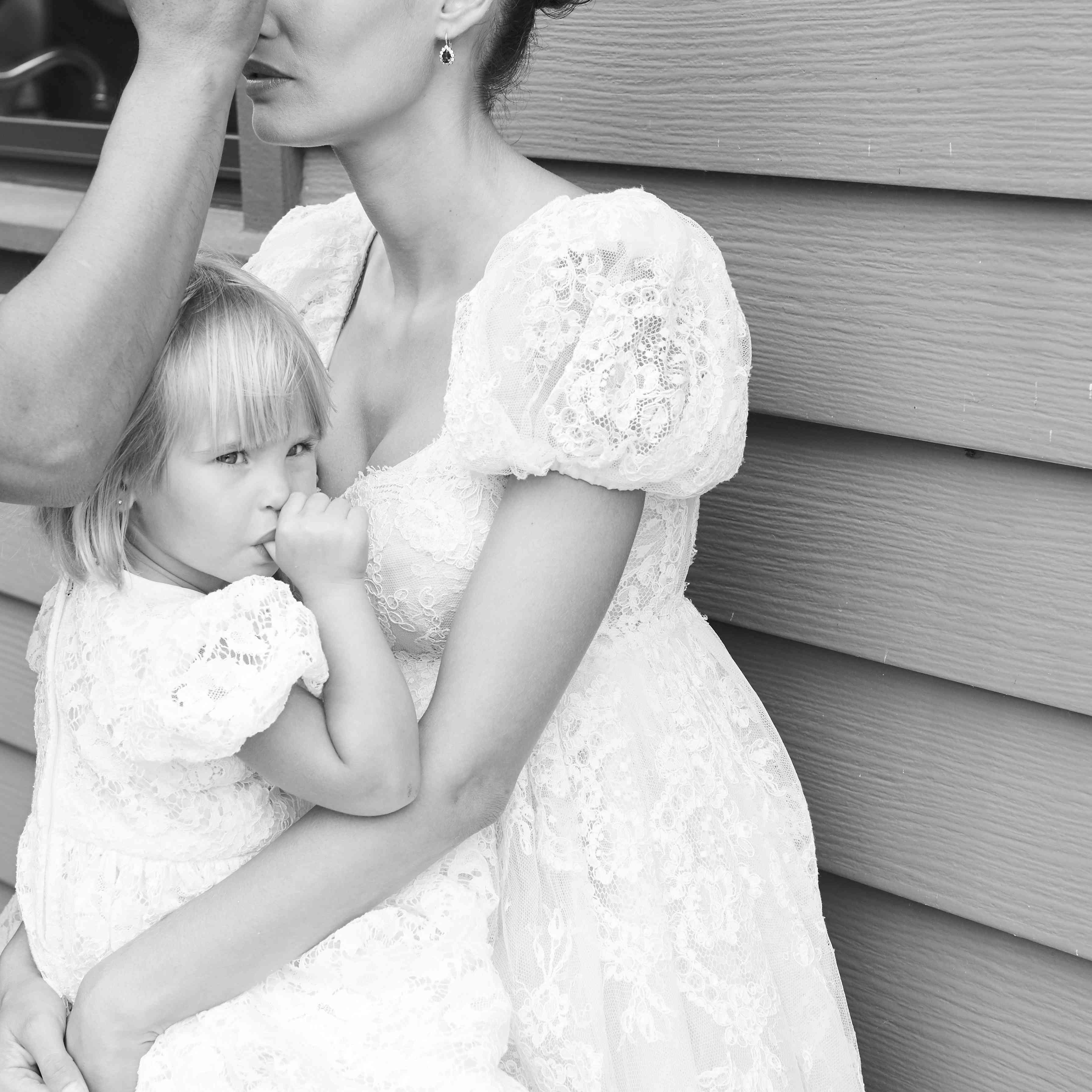 Bride with Daughter