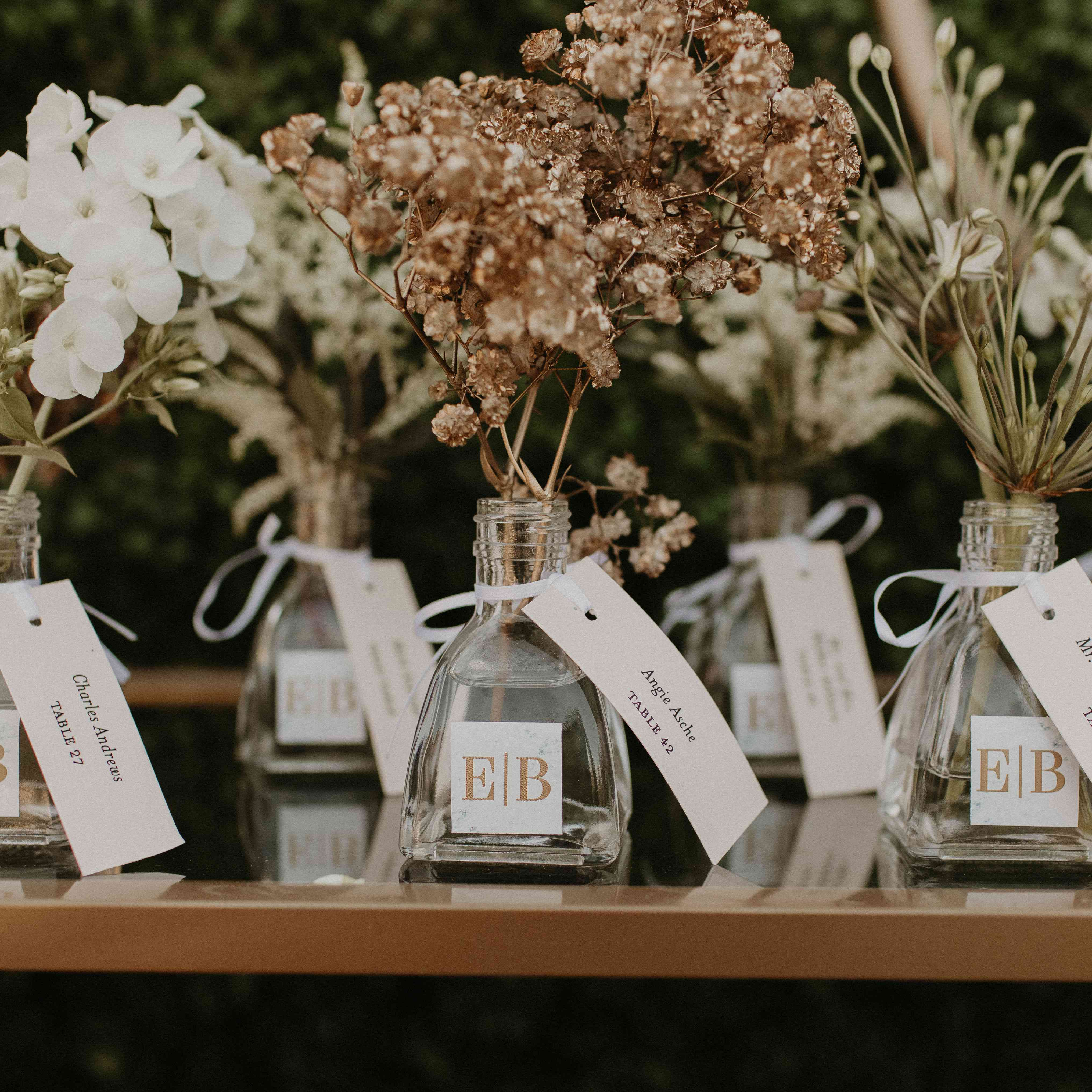 Baker Mayfield Wedding, escort cards