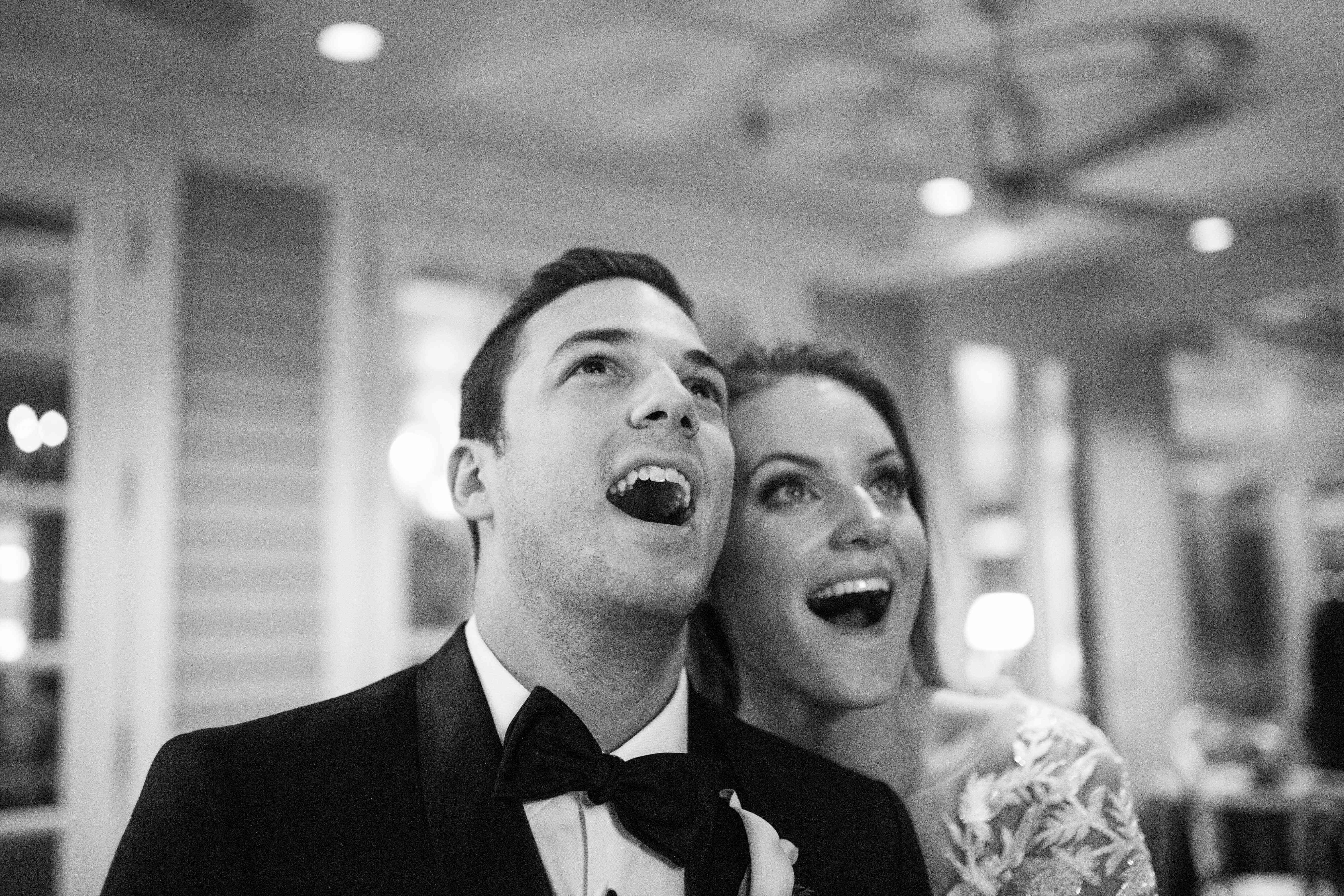 <p>Bride and groom smiling</p><br><br>