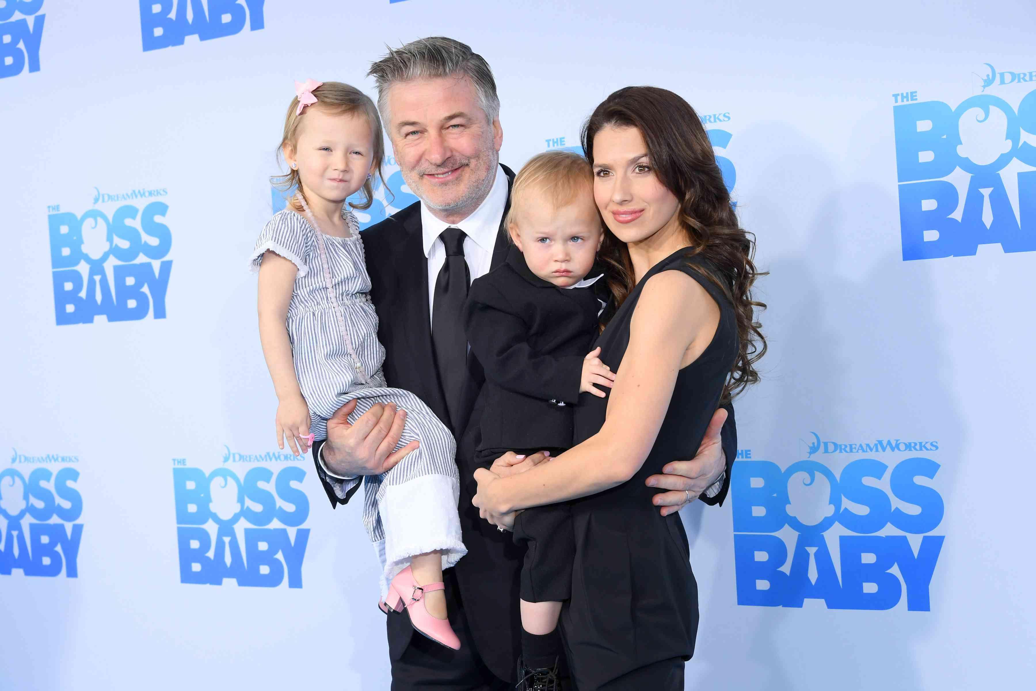 Alec and Hilaria Baldwin and kids