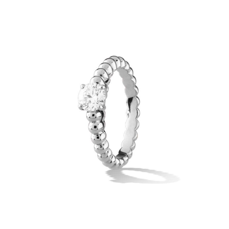 Van Cleef & Arpels Perlée Engagement Ring