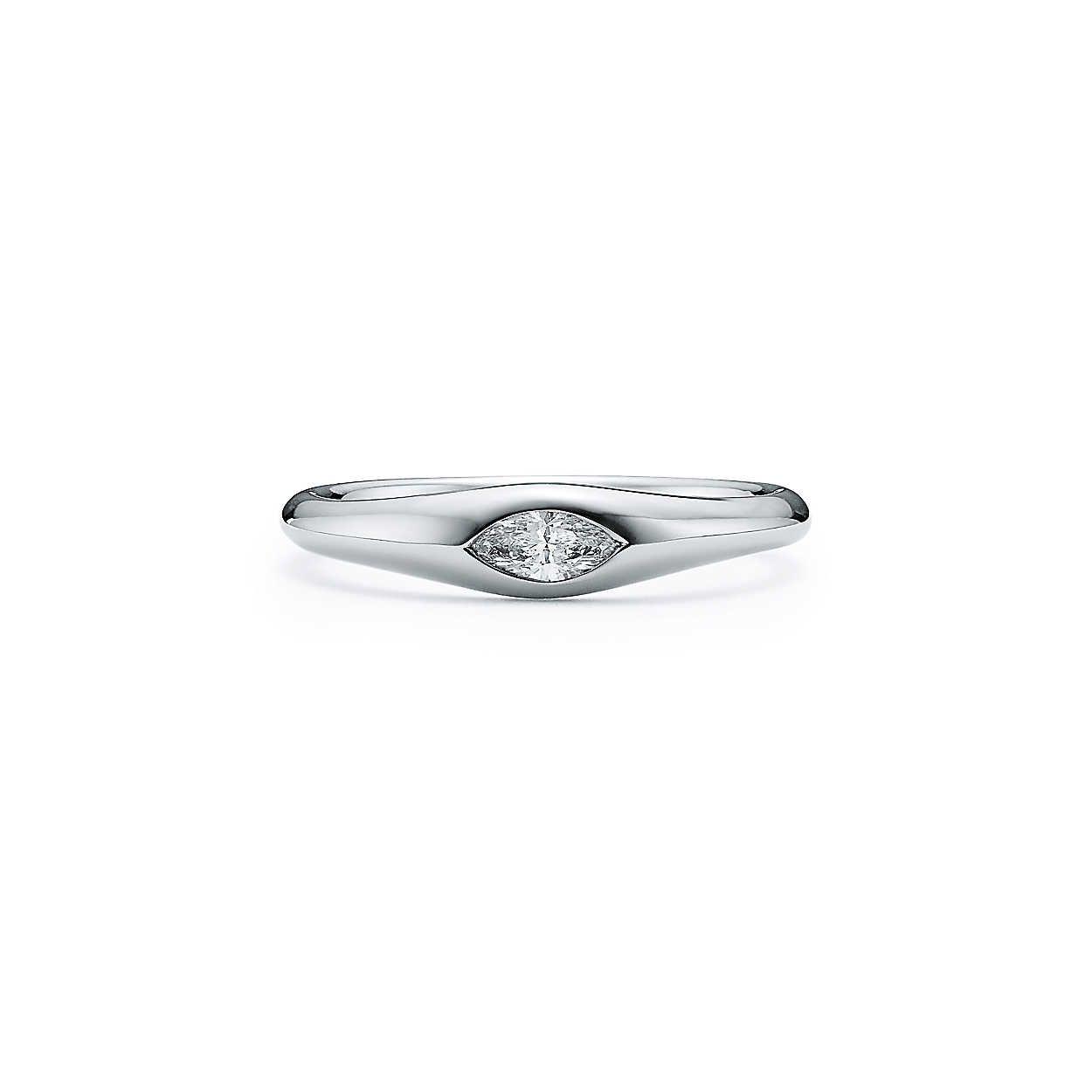 Small platinum engagement ring